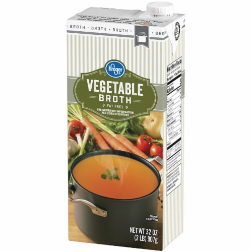 Kroger® Vegetable Broth Perspective: right