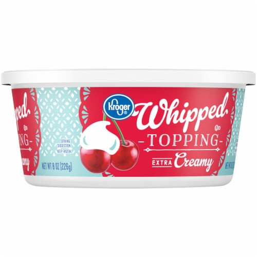Kroger® Extra Creamy Whipped Topping Tub Perspective: right