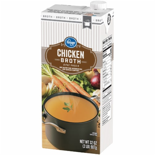Kroger® 99% Fat Free Chicken Broth Perspective: right