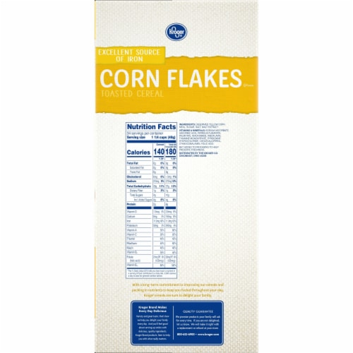 Kroger® Corn Flakes Cereal Family Size Perspective: right