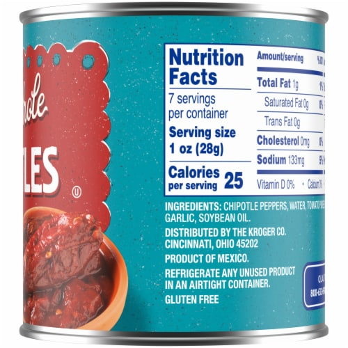 Kroger® Gluten Free Whole Chipotle Peppers in Adobo Sauce Perspective: right