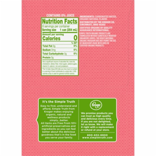 Simple Truth Organic™ Mango Grapefruit Seltzer Water Perspective: right