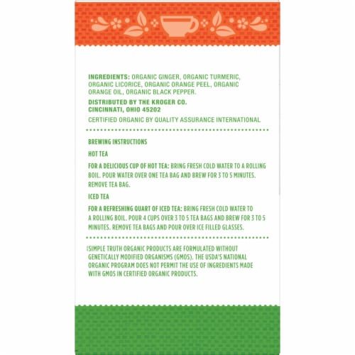 Simple Truth Organic™ Ginger Turmeric Herbal Tea Perspective: right