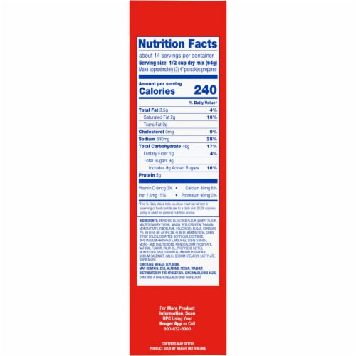 Kroger® Complete Original Pancake & Waffle Mix Perspective: right
