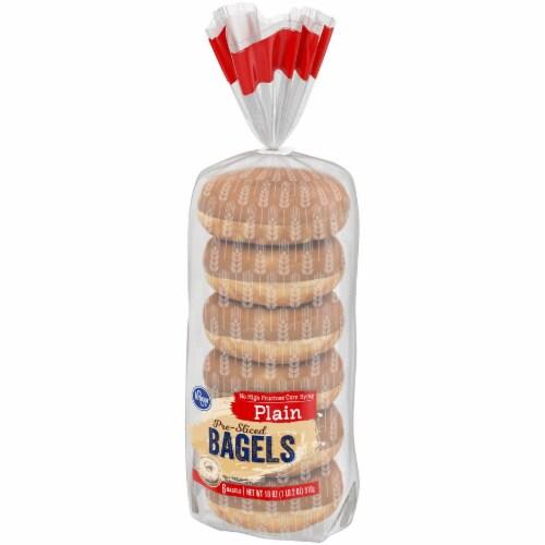 Kroger® Plain Pre-Sliced Bagels Perspective: right