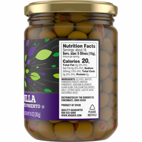Kroger® Manzanilla Olives Stuffed With Pimiento Perspective: right