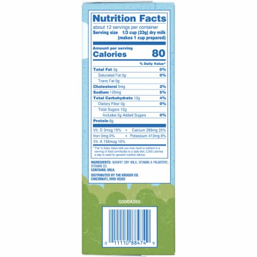 Kroger® Instant Non-Fat Dry Milk Pouches 3 Count Perspective: right
