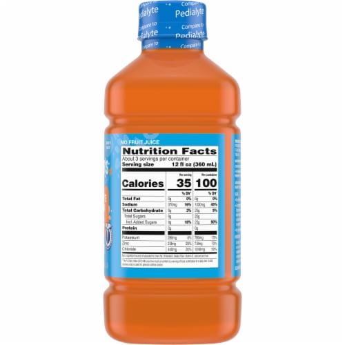 Comforts Mixed Fruit Flavored Electrolyte Solution Perspective: right