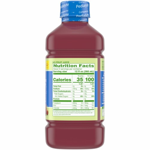 Comforts™ Grape Flavored Electrolyte Solution Perspective: right