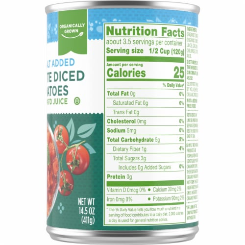 Simple Truth Organic™ No Salt Added Petite Diced Tomatoes Perspective: right