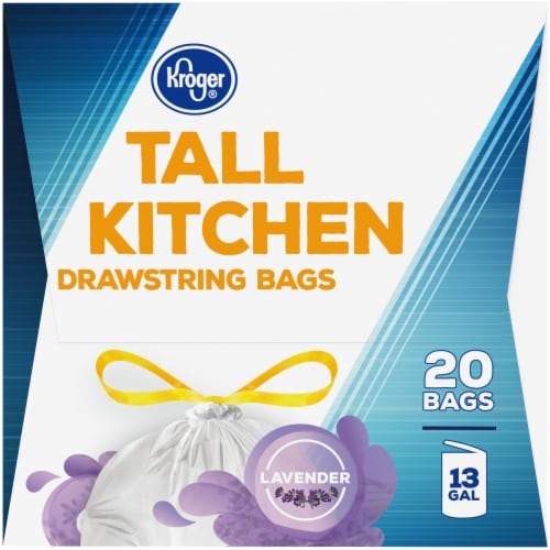 Kroger® Tall Kitchen Lavender Scented 13 Gallon Drawstring Bags Perspective: right