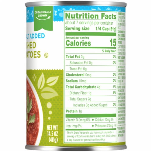 Simple Truth Organic™ No Salt Added Crushed Tomatoes Perspective: right