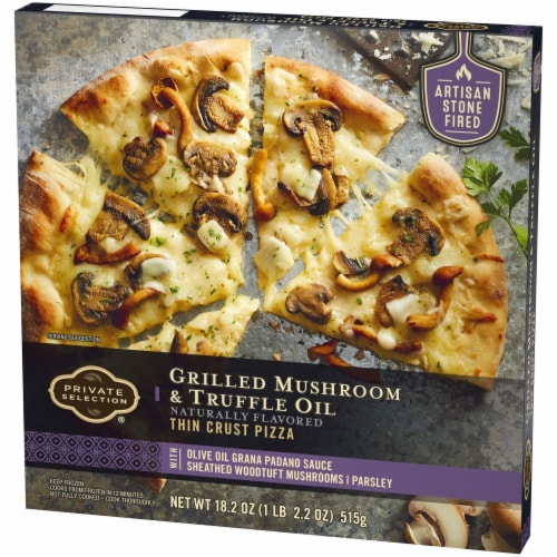 Private Selection® Grilled Mushroom & Truffle Oil Thin Crust Frozen Pizza Perspective: right