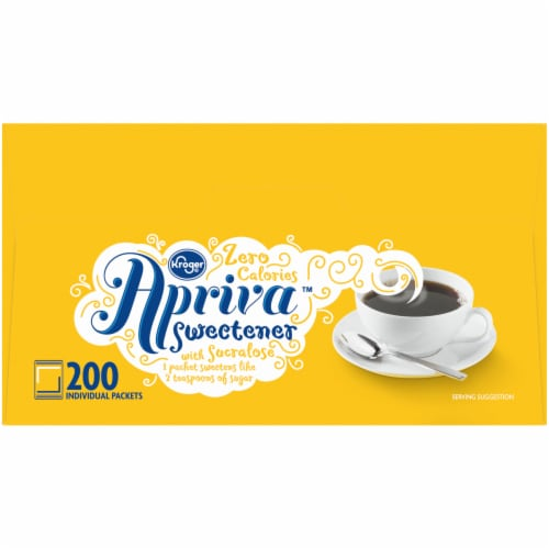 Kroger® Apriva Zero Calorie Sweetener with Sucralose Perspective: right