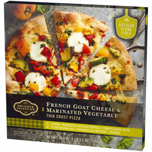 Private Selection® French Goat Cheese & Marinated Vegetables Thin Crust Pizza Perspective: right