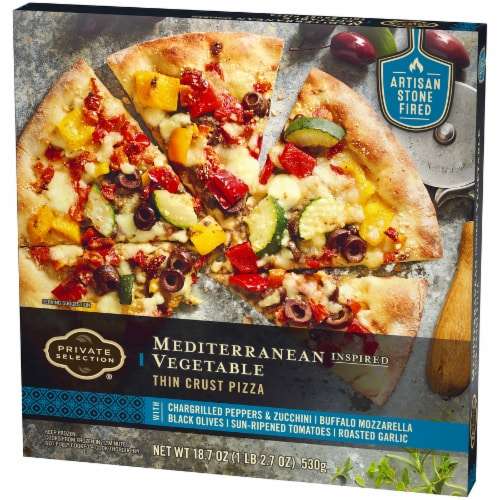 Private Selection™ Mediterranean Inspired Vegetable Thin Crust Pizza Perspective: right