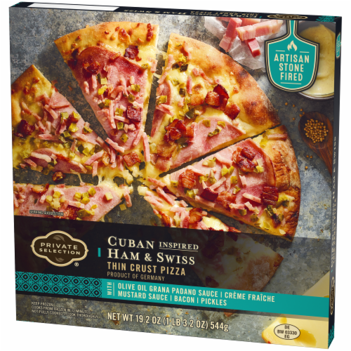 Private Selection® Cuban Inspired Ham & Swiss Thin Crust Pizza Perspective: right