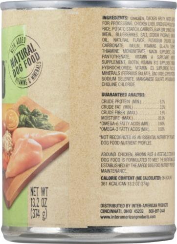 Abound™ Chicken Brown Rice & Vegetable Stew in Gravy Wet Dog Food Perspective: right
