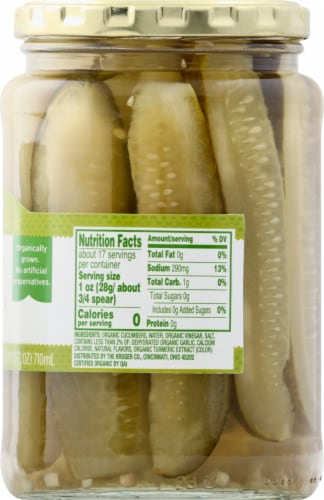 Simple Truth Organic™ Kosher Dill Pickle Spears Perspective: right
