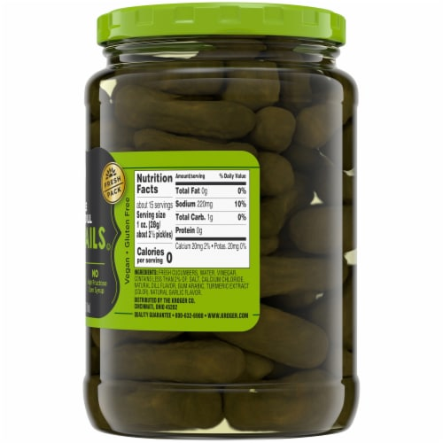 Kroger® Whole Kosher Dill Cocktail Pickles Perspective: right