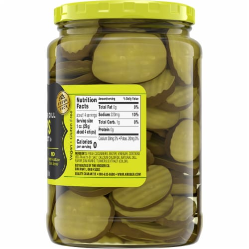 Kroger® Hamburger Dill Oval Cut Pickle Chips Perspective: right