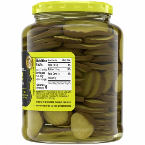 Kroger® Oval Cut Hamburger Dill Chips Perspective: right
