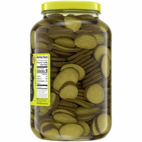 Kroger® Oval Cut Hamburger Dill Pickle Chips Perspective: right