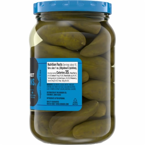 Kroger® Whole Sweet Gherkins Pickles Perspective: right