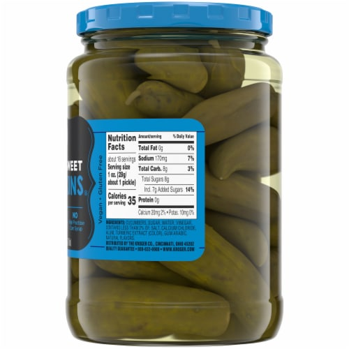 Kroger® Whole Sweet Gherkins Perspective: right