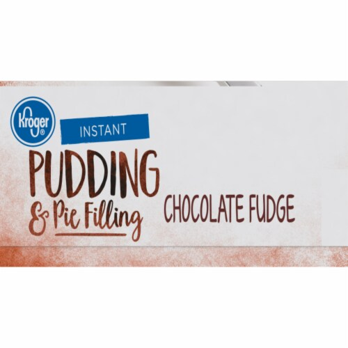 Kroger® Chocolate Fudge Instant Pudding & Pie Filling Perspective: right