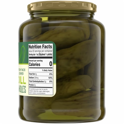 Top 'Ems Fresh Pack Whole Kosher Dill Pickles Perspective: right