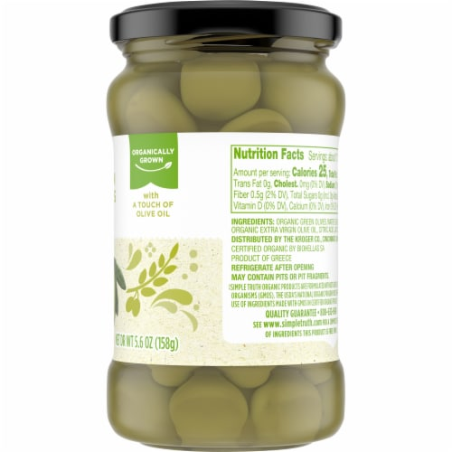 Simple Truth Organic™ Pitted Green Olives Perspective: right