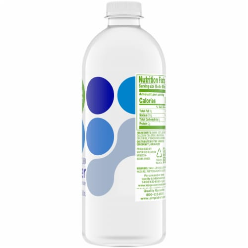 Simple Truth® Vapor Distilled Water with Electrolytes Perspective: right