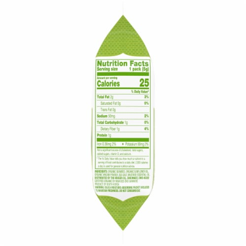 Simple Truth Organic® Wasabi Roasted Seaweed Snack Perspective: right