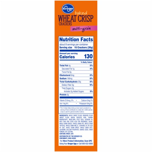 Kroger® Multi-Grain Baked Wheat Crisp Crackers Perspective: right