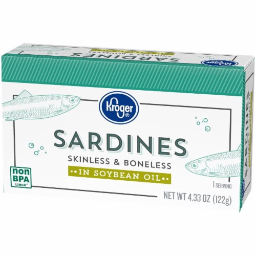 Kroger® Skinless & Boneless Sardines in Soybean Oil Perspective: right
