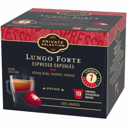 Private Selection™ Lungo Forte Espresso Capsules Perspective: right