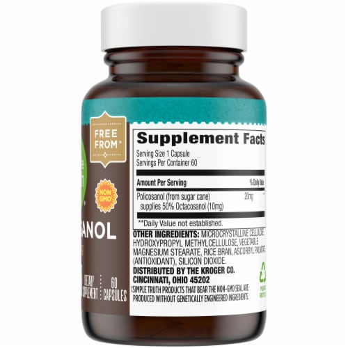 Simple Truth™ Policosanol Capsules 20mg Perspective: right