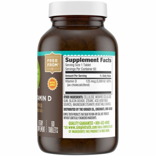 Simple Truth™ Vitamin D3 Tablets 5000IU Perspective: right