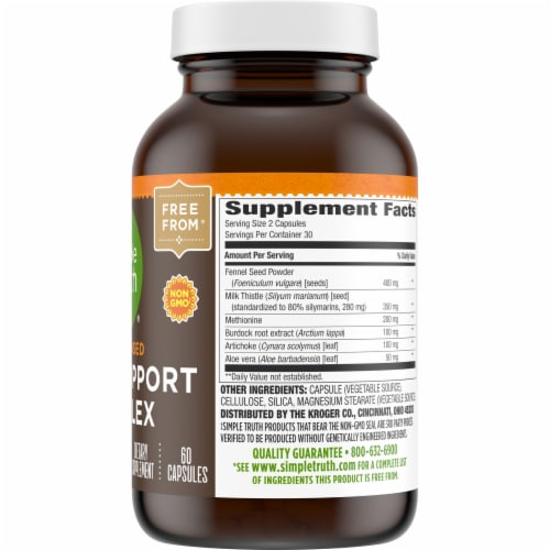 Simple Truth™ Plant Based Liver Support Complex Capsules Perspective: right