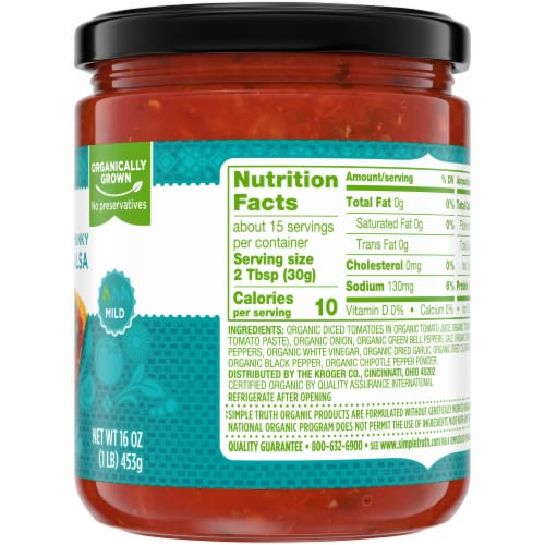 Simple Truth Organic® Thick & Chunky Mild Salsa Perspective: right