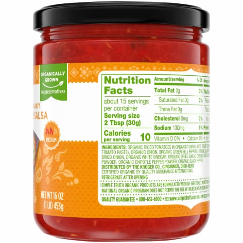 Simple Truth Organic® Thick & Chunky Medium Salsa Perspective: right