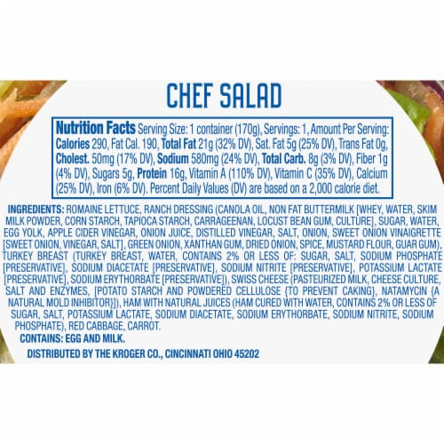 Kroger® Chef Salad Kit for One Perspective: right