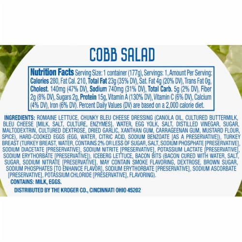 Kroger® Cobb Salad Kit for One Perspective: right
