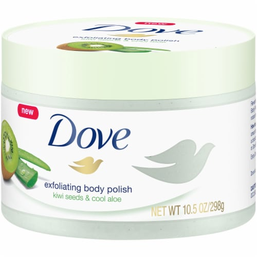 Dove Kiwi Seeds and Cool Aloe Exfoliating Body Polish Perspective: right