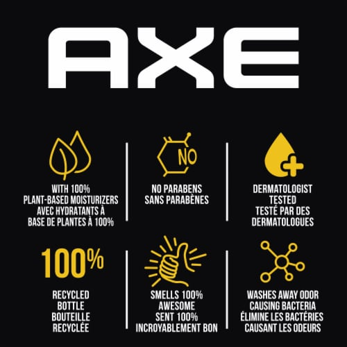 Axe Phoenix Crushed Mint & Rosemary Scent Clean + Cool Body Wash Perspective: right
