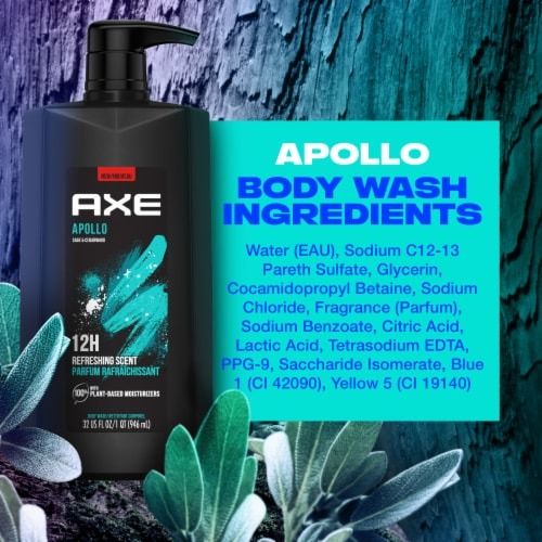 Axe Apollo Sage & Cedarwood Scent Clean + Fresh Body Wash Perspective: right