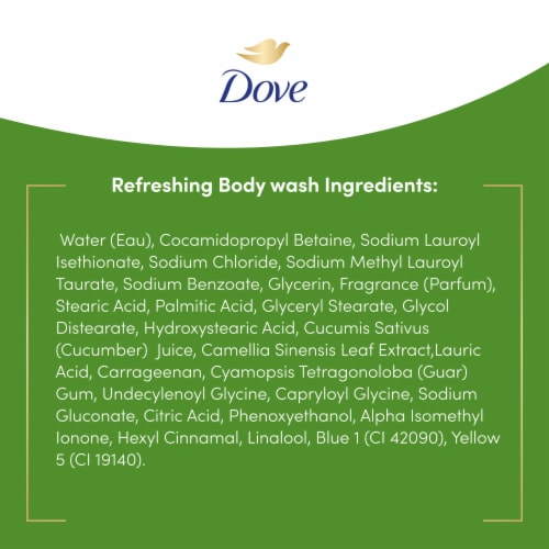 Dove Go Fresh Body Wash - Cucumber and Green Tea Perspective: right