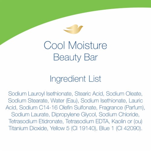 Dove Go Fresh Cool Moisture Cucumber & Green Tea Beauty Bars Perspective: right