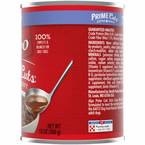 Purina Alpo Chop House Prime Rib Flavor Wet Dog Food Perspective: right